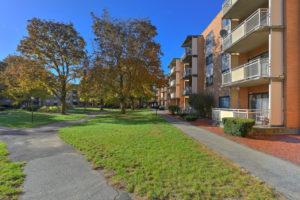 exterior balconies and sidewalks
