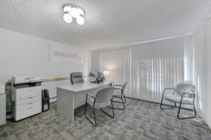 Avanath office with desk and chairs